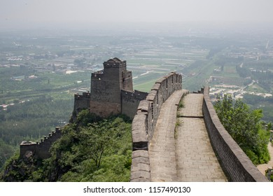 The Great wall of China and panorama