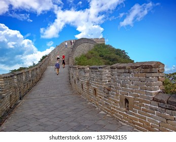 The Great Wall of China, a popular tourist travel destination, on most people's bucket list to see.