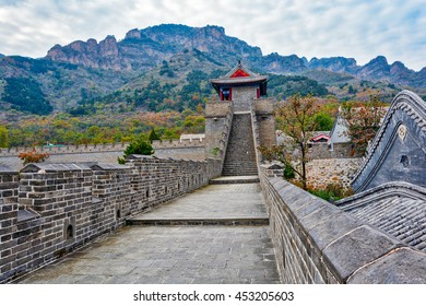 The Great Wall of China at remote location at Huangyaguan over Huangya Pass. Huangyaguan is considered to be a miniature of the Great Wall of China. China, Ji Province, Tianjin.