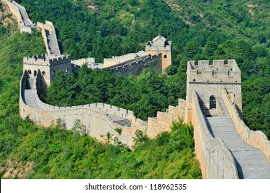 Great Wall of China in Summer (Mutianyu section near Beijing)