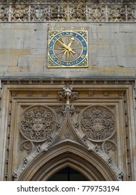 Great West Door Architecture Detail on St Mary's Church Cambridge