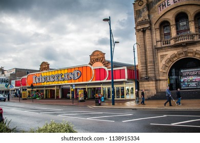 GREAT YARMOUTH SEAFRONT, NORFOLK, ENGLAND-15th SEPTEMBER 2017:-Great Yarmouth is a British seaside town, on the Norfolk east coast of England