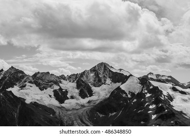 Greater Caucasus Mountain Chain, view from Elbrus