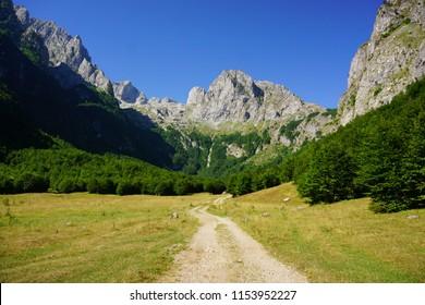 Grebaje valley Prokletije Mountains