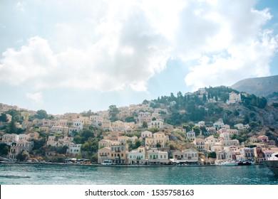 Grecka wyspa Symi oraz jej architektura - Shutterstock ID 1535758163