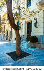 greckoj street of the capital Athens