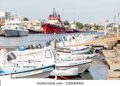 GREECE, ALEXANDROUPOLIS - JULY 27, 2018: The fishing port of the town.