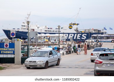 GREECE, ALEXANDROUPOLIS - JULY 30, 2018: The fishing port of the town.