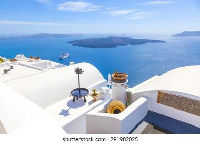 Greece Amazing Santorini sea view