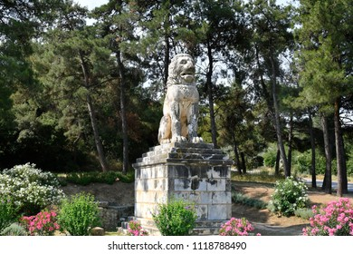 Greece, ancient lion of Amphipoli