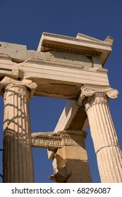 Greece Athens Acropolis archaeological site detail - Unesco World heritage site
