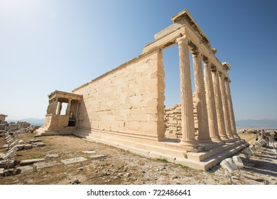 Greece Athens Parthenon Amphitheater Antique Temple Stock Photo