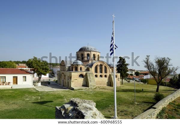 Greece, church of Monastery of Panagia Kosmosoteira in Feres