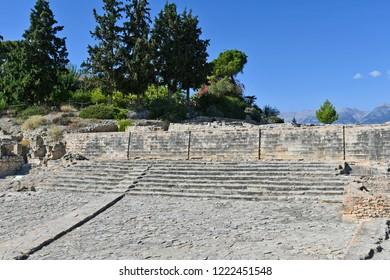 Greece, Crete Island, Phaistos aka Festos, ruins of a bronze age archaeological site