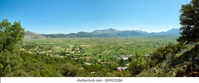 Greece. Crete. Panorama of the Lassithi Plateau