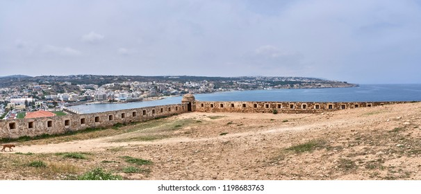 Greece. Crete. Rethymnon. Venetian Fortezza. South and West walls of the fortress