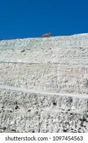 Greece, Cyclades Islands, Kimolos, 09/09/2012: perlite quarry