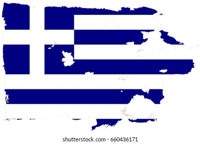 Greece flag grunge background. Background for design in country flag