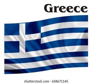 Greece flag wit her name