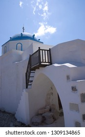 Greece, the island of Astypalaia.  The old church of Saint George in the ancient  Venetian Kastro.