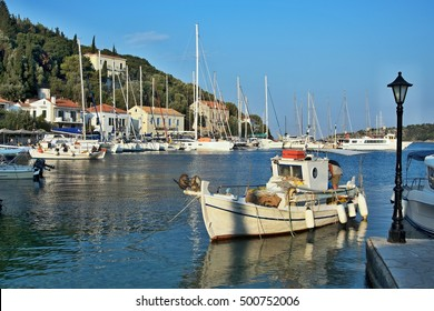 Greece, the island of Ithaki - a view of the harbor in Kioni