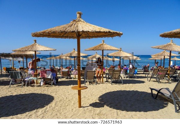 Greece Island Thassos Potos City Beach Stock Photo (Edit Now ...