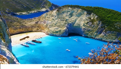 Greece. The island of zakynthos. The Ionian Sea. The most beautiful places in the world
