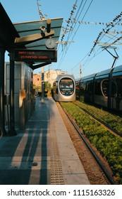 Greece - July 23, 2013 : Paralia Glyfadas tram station