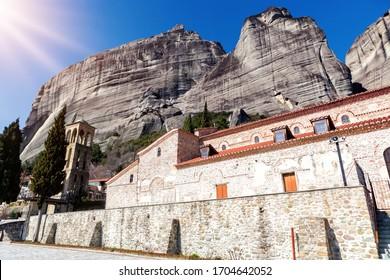Greece, Kalambaka town. The Assumption of Virgin Mary byzantine church of the 11th century,