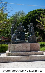 Greece, Kos  - July 2nd 2019:  Statue of Hippocrates near the Harbor