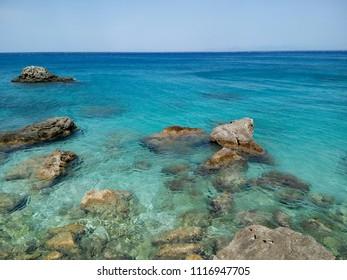 Greece, Lefkada,  Agios Nikitas, Milos Beach