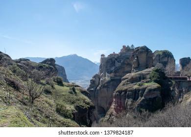 Greece Meteora monasteries complex - St. Stephen monastery
