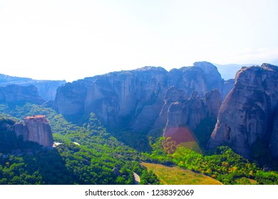 greece meteora mountain temple