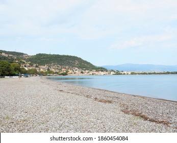 Greece Nafpaktos Psani Beach landscape - Shutterstock ID 1860454084