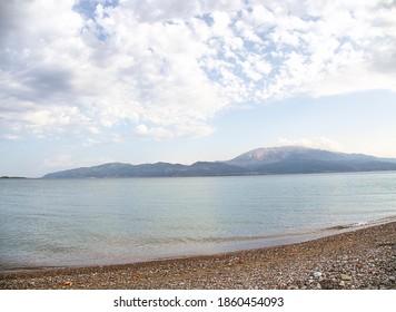 Greece Nafpaktos Psani Beach landscape - Shutterstock ID 1860454093