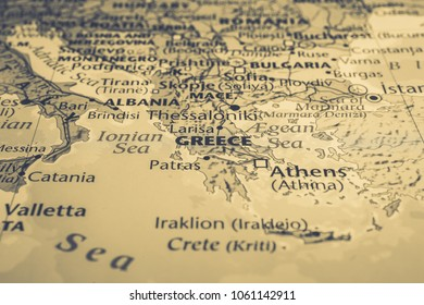 greece on the map of europe