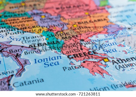 Greece On Map Europe Stock Photo (Edit Now) 721263811 - Shutterstock