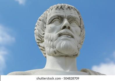 Greece. Polygyros. Statue of Aristotle.