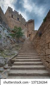 Greece, Rhodes, Lindos Acropolis.