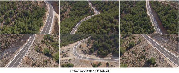 Greece Roads / Aerial photo