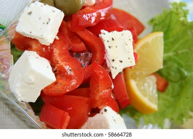 Greece salad close-up