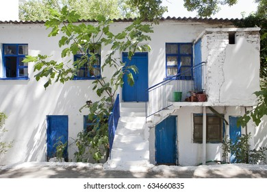 Greece, Samothrace, old house in village Therma on the island in aegean sea.