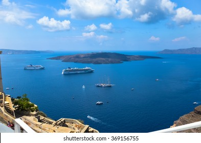 GREECE, SANTORINI JULY 17, 2014: dreamlike trip to the island of Santorini. At this time the beautiful weather and landscapes