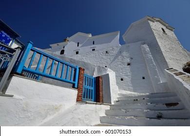 Greece, Skopelos Island - Typical Alley in Skopelos Town