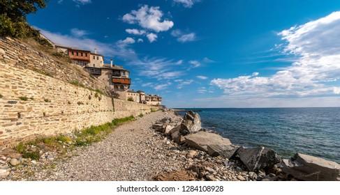 greece spring sea athos