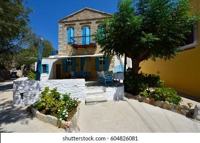 Greece, Symi Island - Colorful Alley of Symi Town