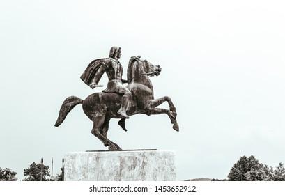 Greece, Thessaloniki, Alexander the Great monument.
