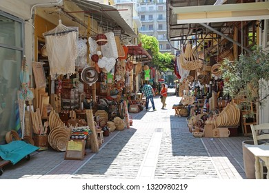 GREECE, THESSALONIKI, JUNE 10, 2013: People at the market place in Thessaloniki, Greece