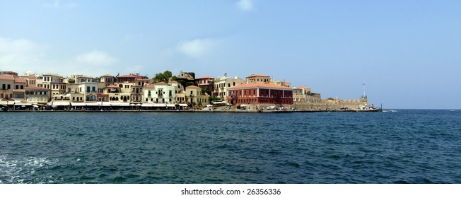 Greece waterfront / quay in Rethymno