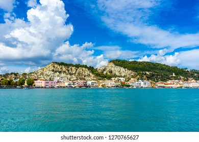 Greece, Zakynthos, Beautiful small zakynthos city at the coast of the island
